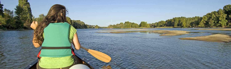 Balade en canoe sur la Loire